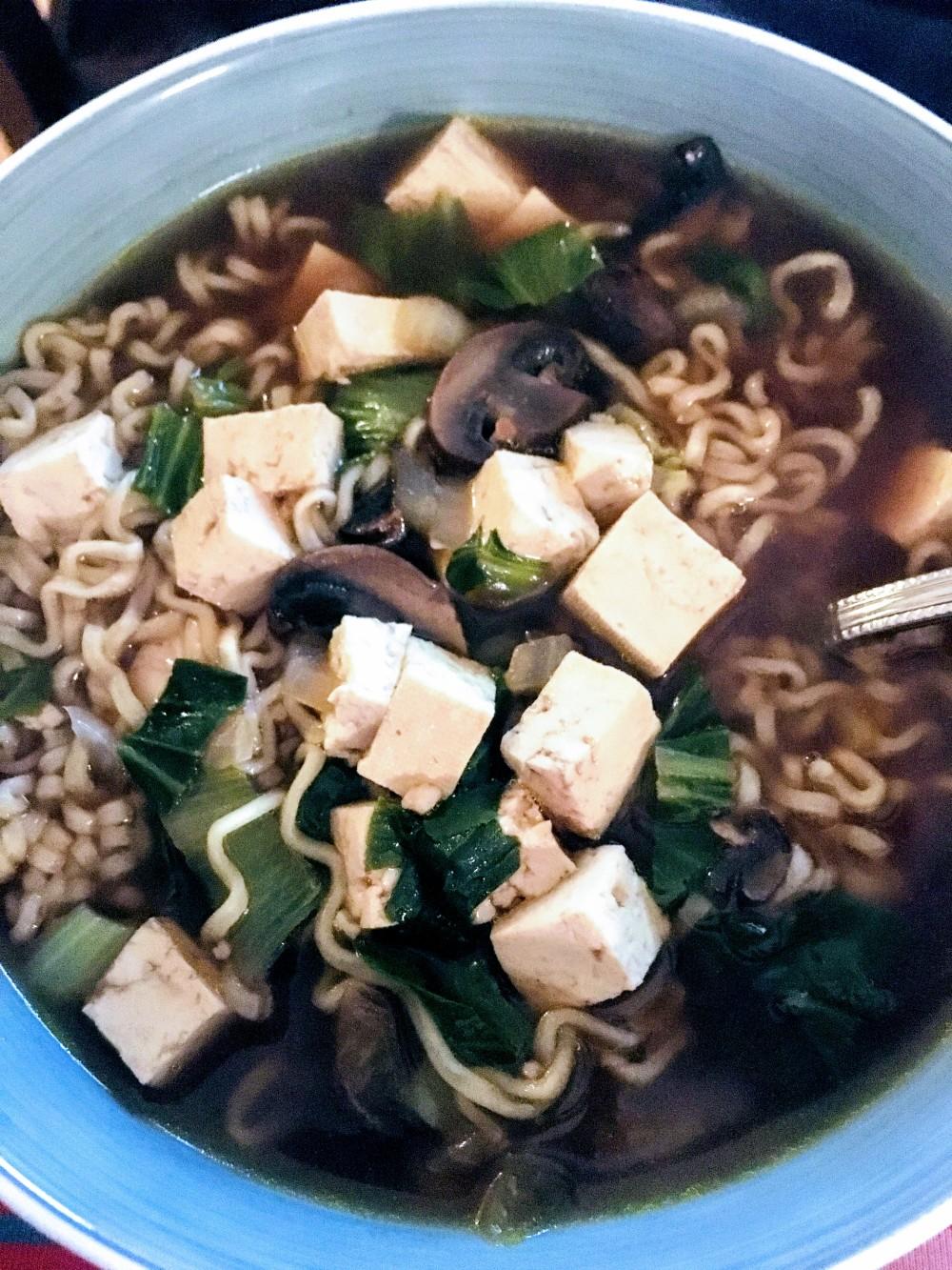 Tofu and Vegetable Ramen