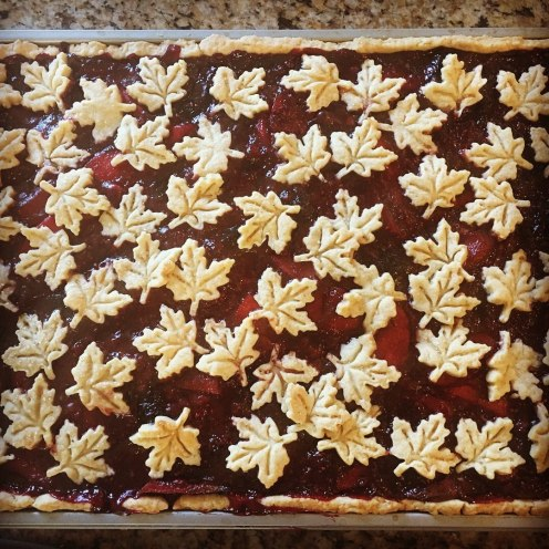 Vegan Apple, Cherry, and Raspberry Slab Pie