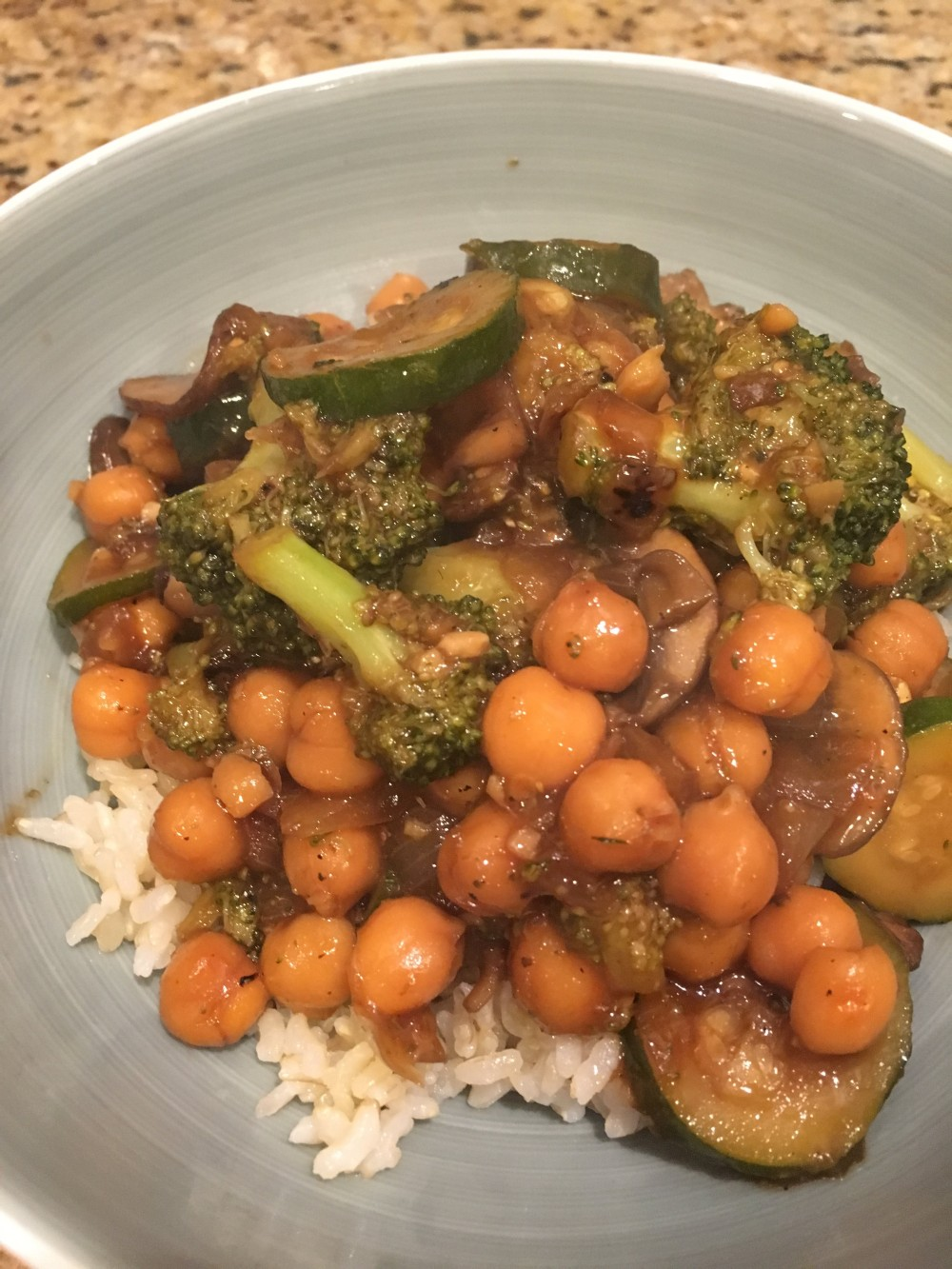 Chickpea and Veggie Stir Fry