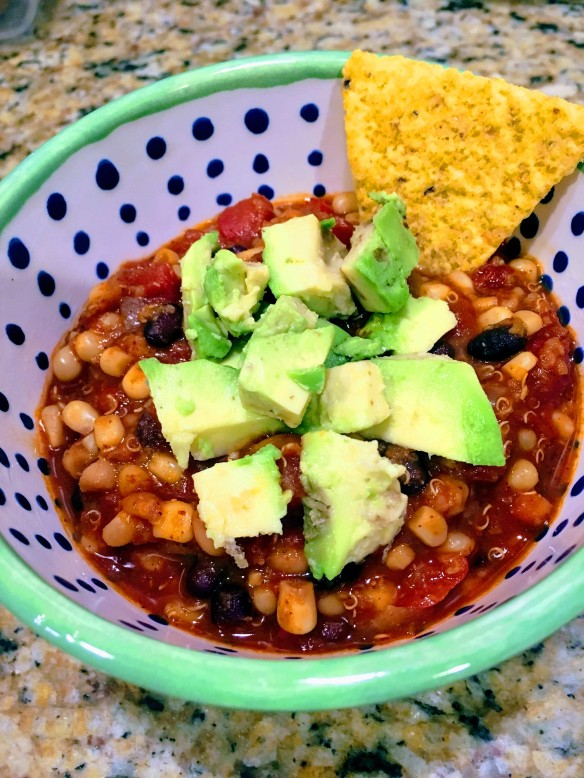 Easy Vegan Bean and Quinoa Chili