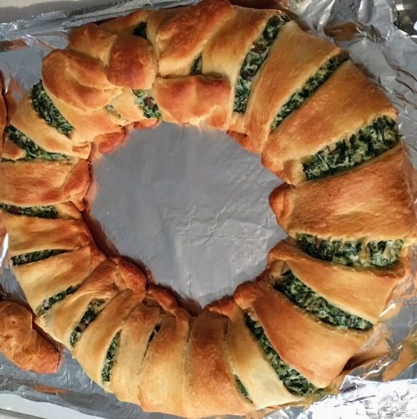 Spinach, Mushroom, and Tofu Ricotta Wreath