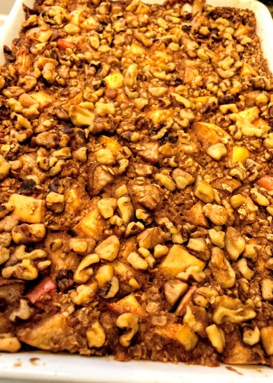 Maple- Cinnamon Apple and Pear Baked Oatmeal -Oh She Glows