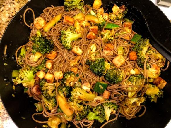 Crispy Tofu and Broccoli Soba Noodles