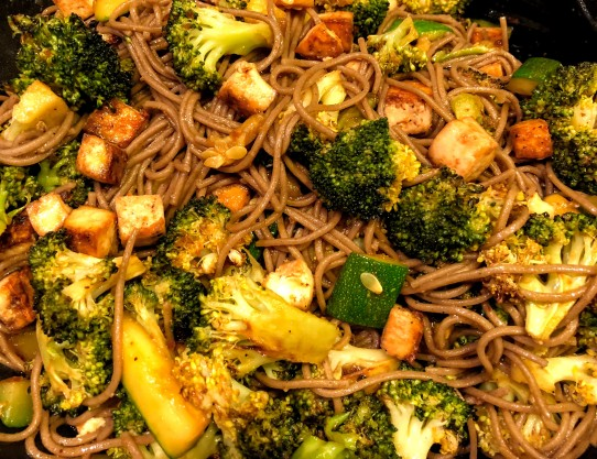 Crispy Tofu and Broccoli Soba Noodles
