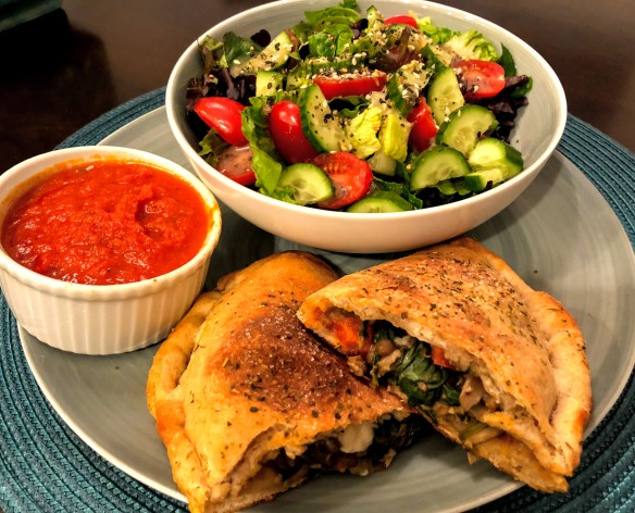 Vegetable and Lentil Calzones