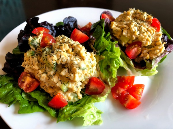 Dilly Chickpea Salad Wraps