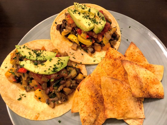 Black Bean and Veggie Tacos