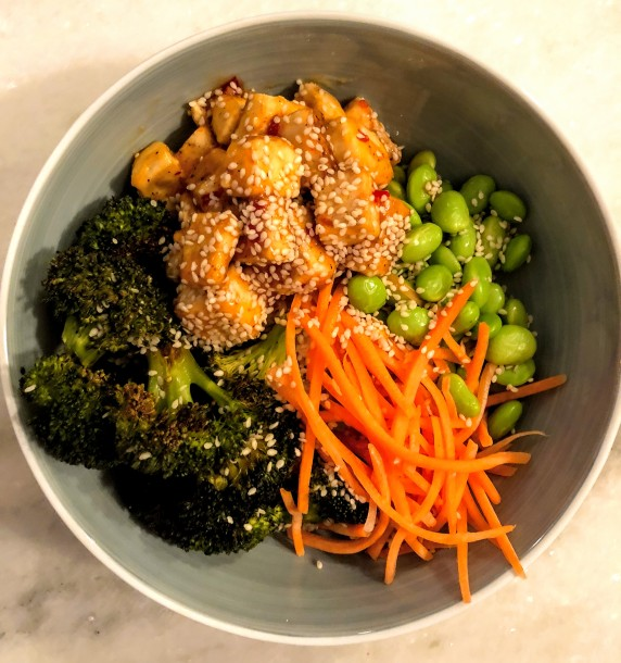 Sweet Chili Tofu Buddha Bowl