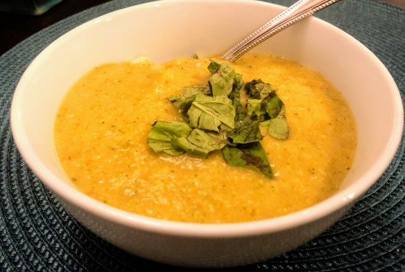 "Broccoli ""Cheese"" Soup over Rice"