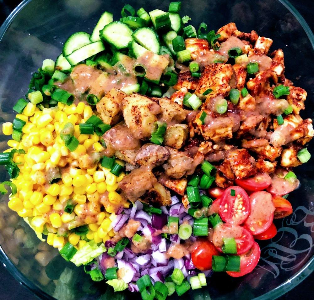 Crispy BBQ Tofu Salad
