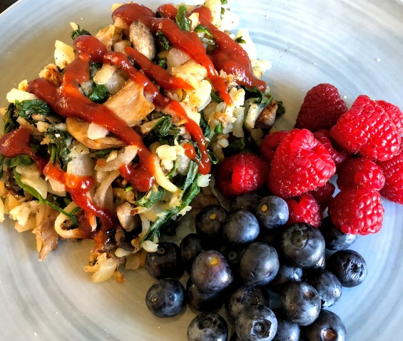 Loaded Veggie Hash Browns