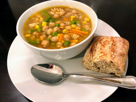Chickpea and Veggie Noodle Soup