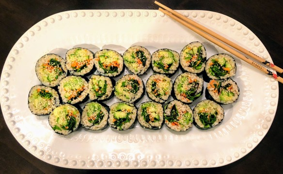 Vegetable, Avocado, and Brown Rice Sushi