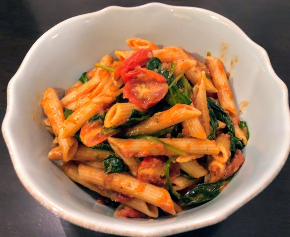 Tomato and Spinach Penne