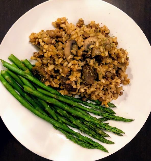 Lentil and Mushroom Brown Rice