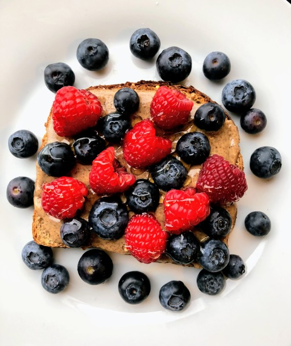 Berry and Almond Butter Toast