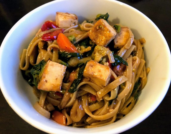 Teriyaki Tofu and Veggie Noodle Bowl