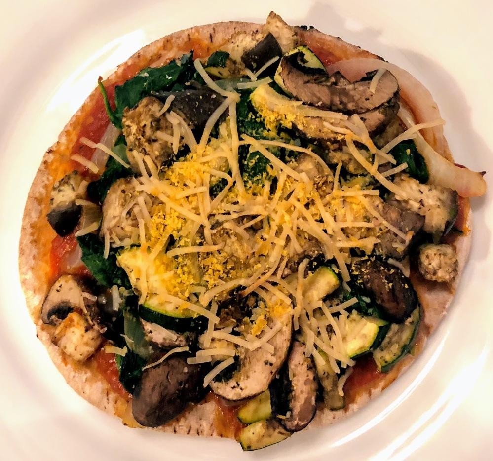 Roasted Vegetable Pita Pizza