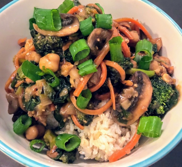 Teriyaki Chickpea and Veggie Stir fry
