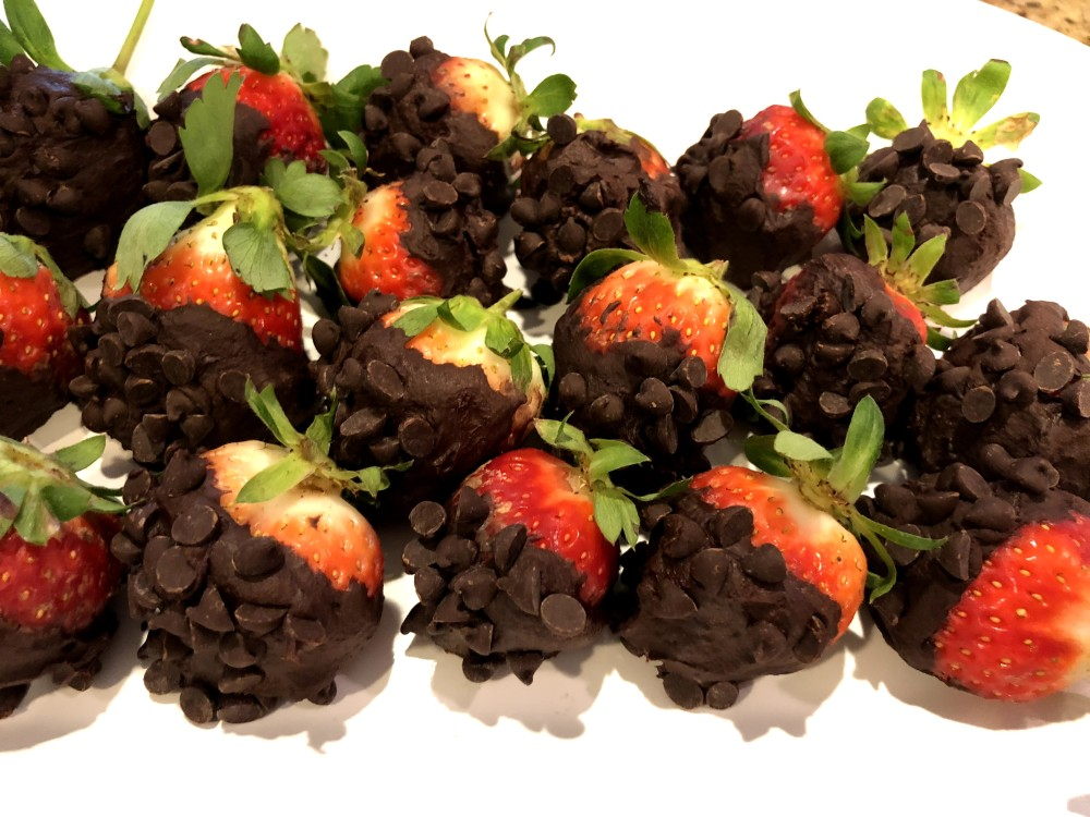 Dark Chocolate Chip Strawberries