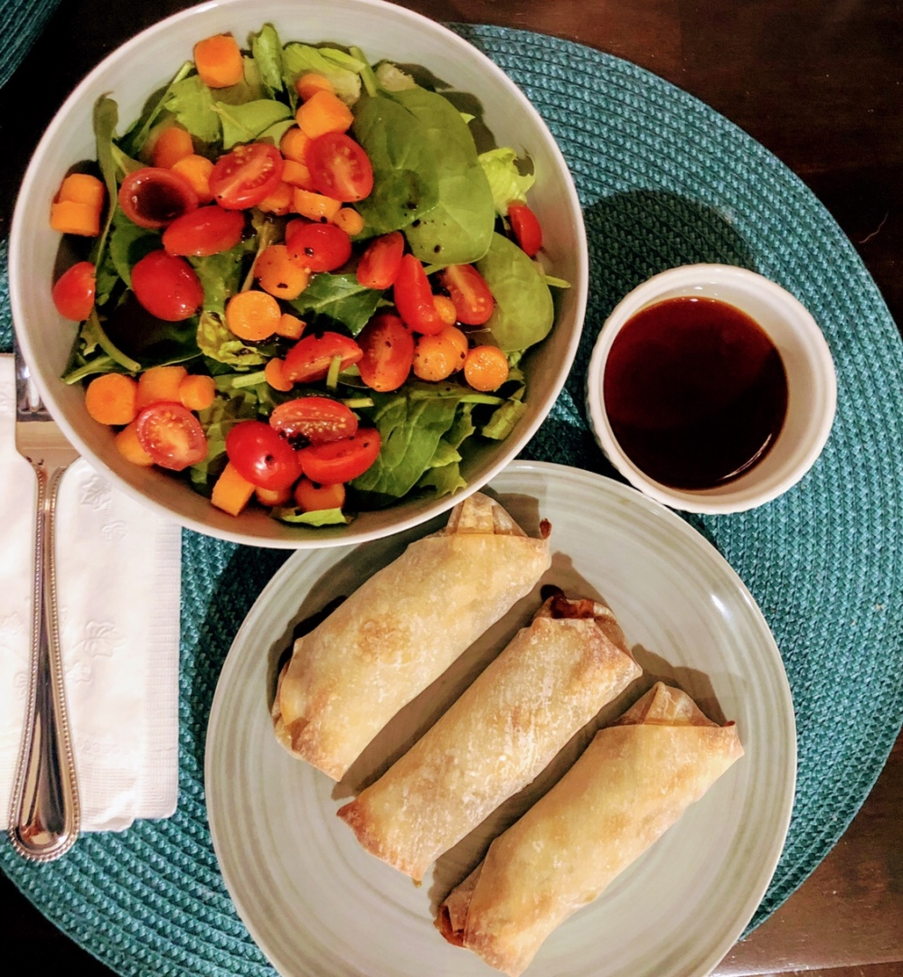 Baked Teriyaki Vegetable Spring Rolls