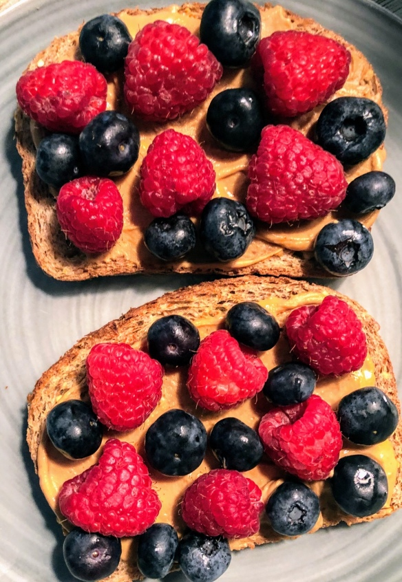 Sprouted Toast with PB2 and Berries
