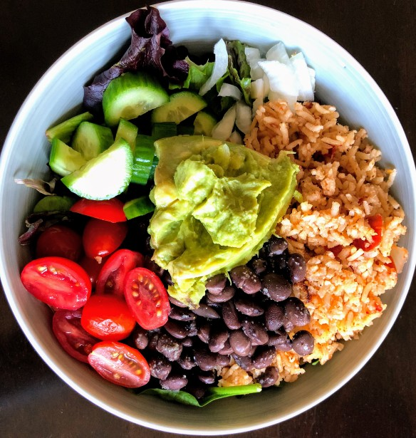 Mexican Brown Rice Taco Salad