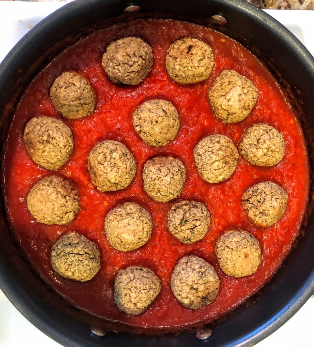 Spaghetti and Chickpea Balls