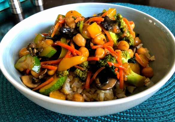 Chinese Chickpea Stir Fry
