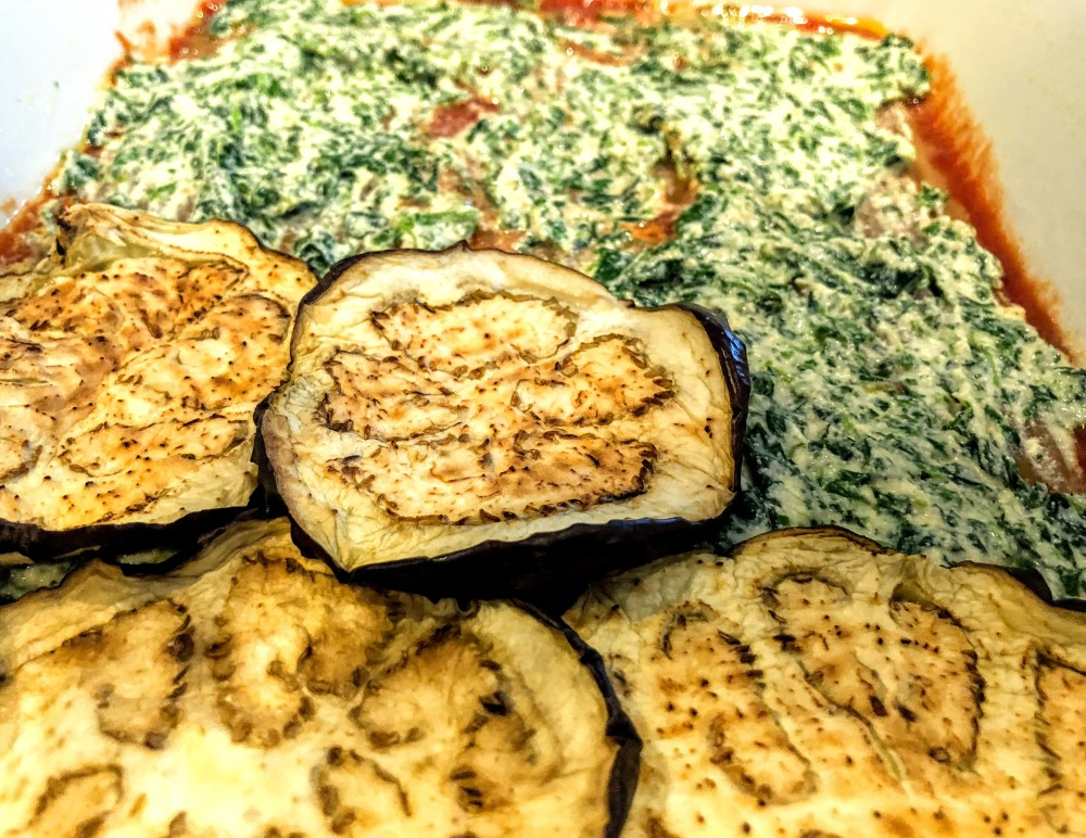 Roasted Eggplant and Spinach Lasagna
