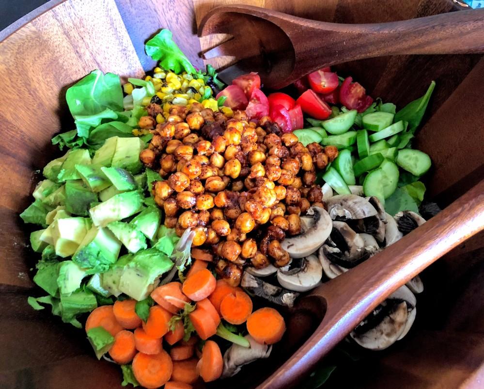 BBQ Chickpea Chopped Salad