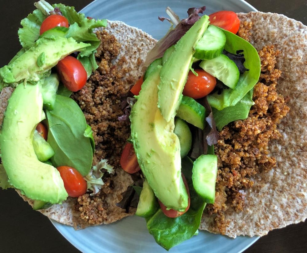 Crunchy Quinoa Tacos