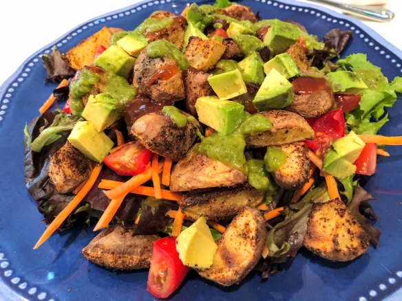 BBQ Potato and Avocado Salad