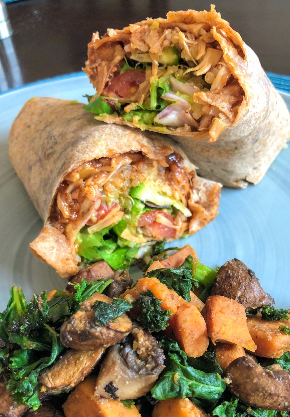 BBQ Jackfruit & Quinoa Wrap