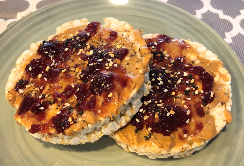 Peanut Butter and Jelly Rice Cakes