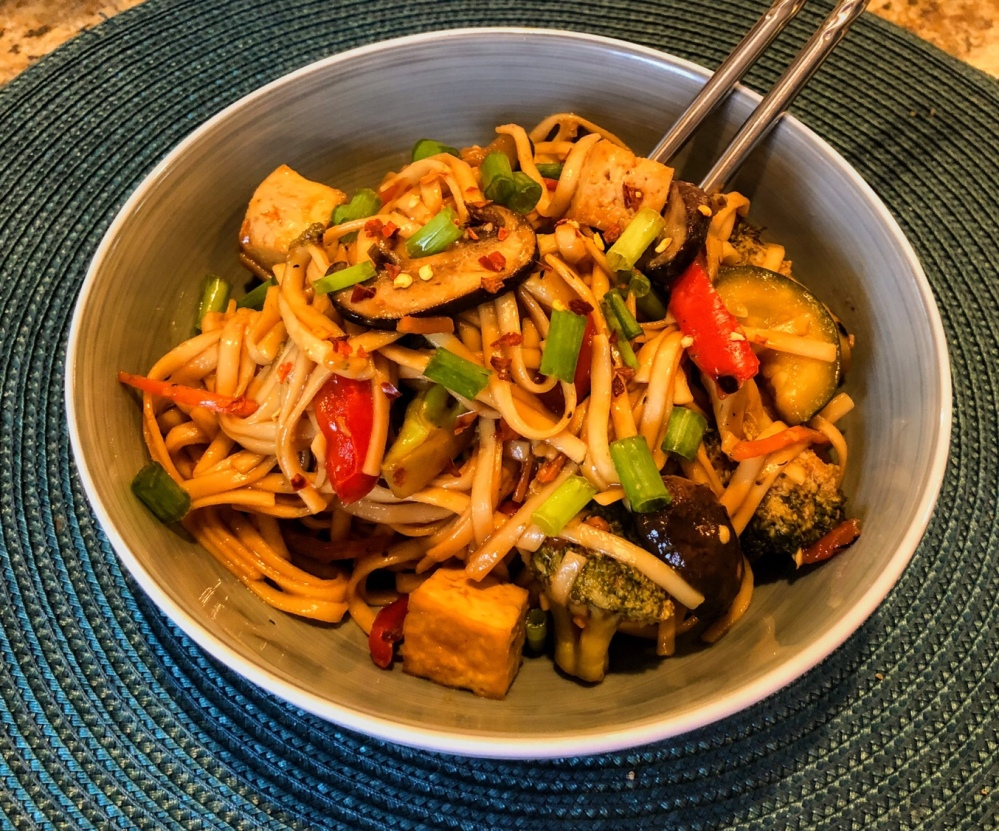 Sweet and Spicy Tofu Lo Mein