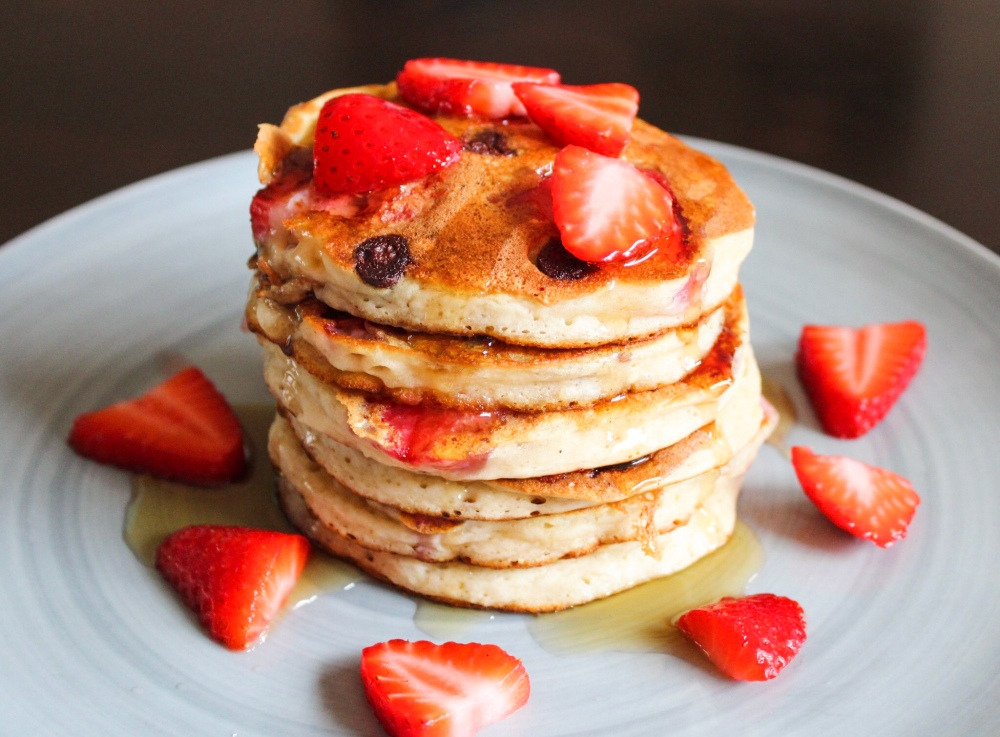 Strawberry Chocolate Chip Pancakes The Charming Chickpea